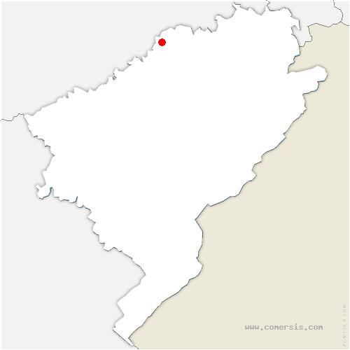 carte de localisation de Montagney-Servigney