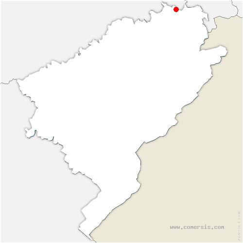 carte de localisation de Montbéliard