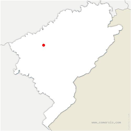 carte de localisation de Montfaucon