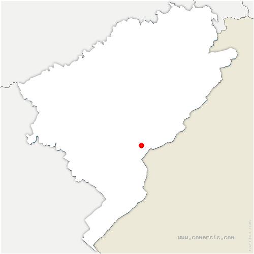 carte de localisation de Montflovin