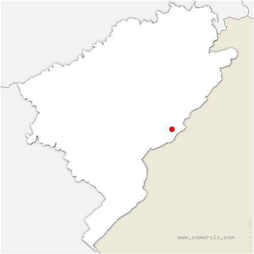 carte de localisation de Montlebon