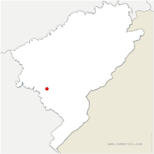 carte de localisation de Montmahoux