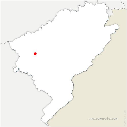 carte de localisation de Montrond-le-Château