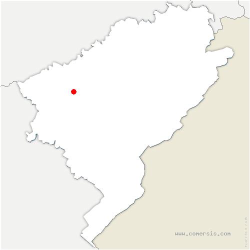 carte de localisation de Morre