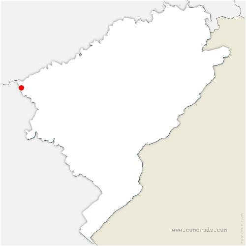 carte de localisation de Moutherot