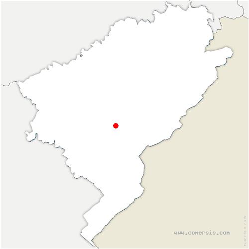 carte de localisation de Mouthier-Haute-Pierre