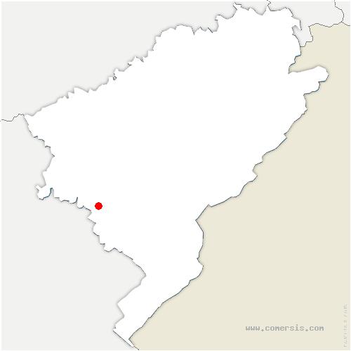 carte de localisation de Nans-sous-Sainte-Anne