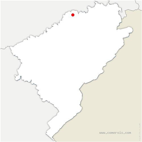 carte de localisation de Nans