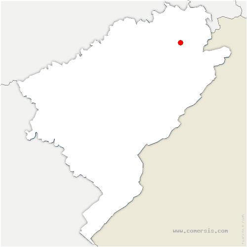 carte de localisation de Neuchâtel-Urtière