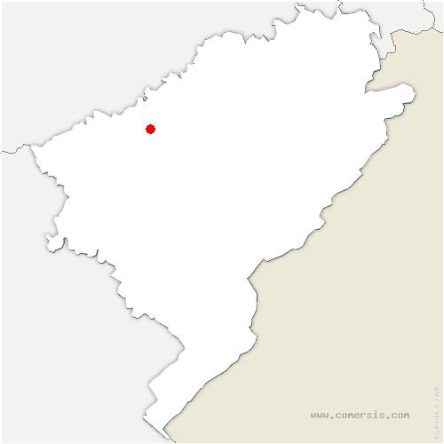 carte de localisation de Novillars