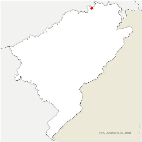 carte de localisation de Onans