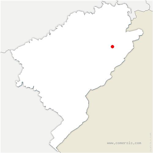 carte de localisation de Orgeans-Blanchefontaine
