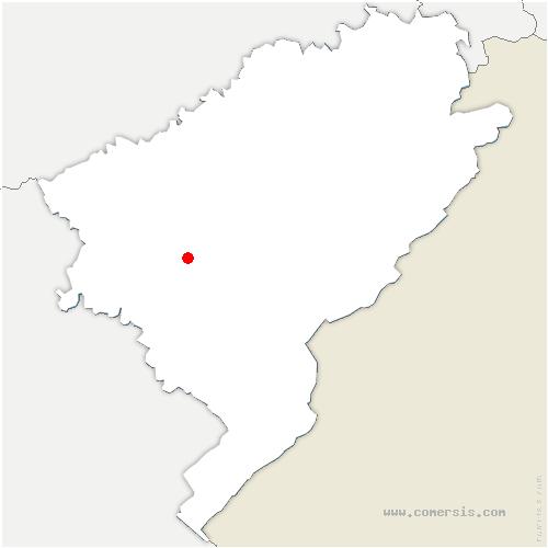 carte de localisation de Ornans