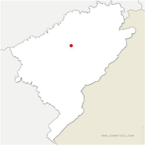 carte de localisation de Orsans