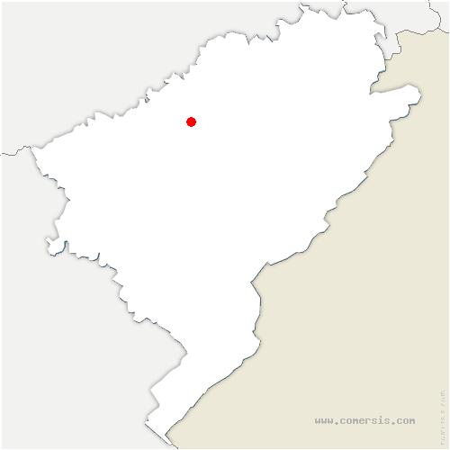 carte de localisation de Ougney-Douvot