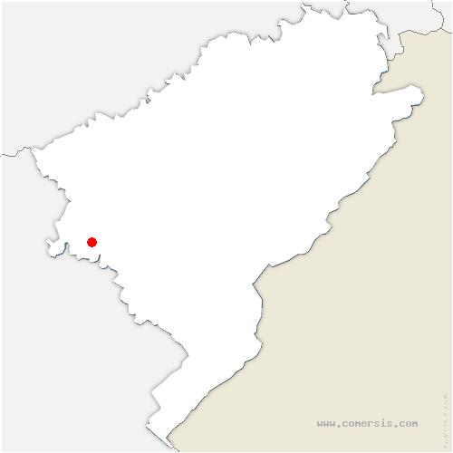 carte de localisation de Paroy