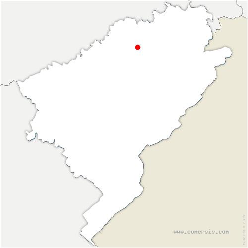carte de localisation de Pays-de-Clerval