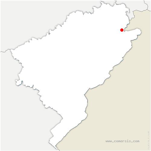 carte de localisation de Pierrefontaine-lès-Blamont