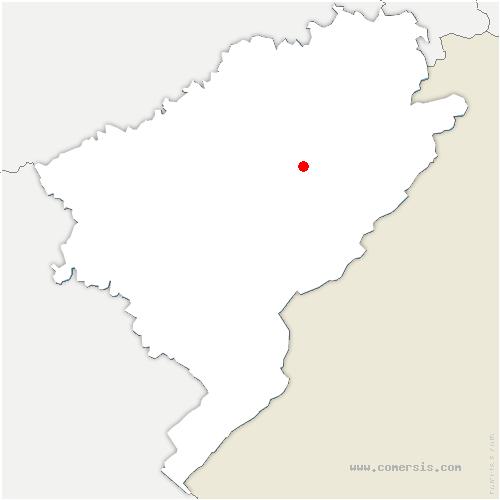 carte de localisation de Pierrefontaine-les-Varans