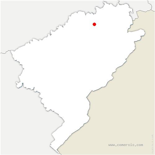 carte de localisation de Pompierre-sur-Doubs