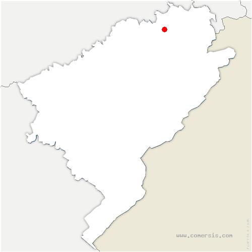 carte de localisation de Prétière