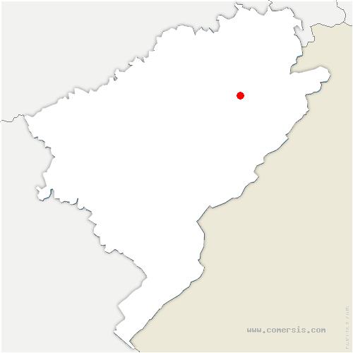 carte de localisation de Provenchère