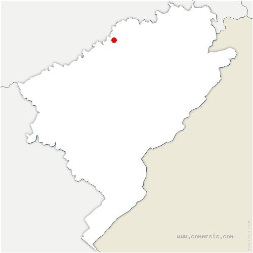 carte de localisation de Puessans
