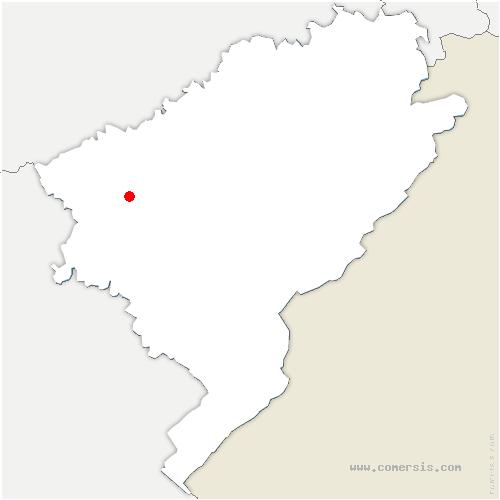 carte de localisation de Pugey
