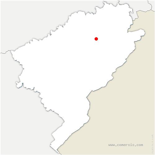 carte de localisation de Rahon