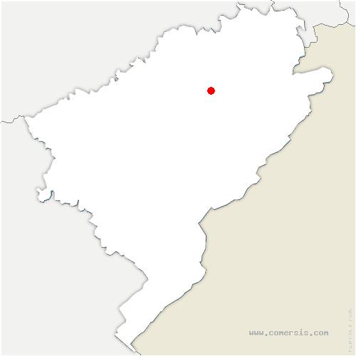 carte de localisation de Randevillers