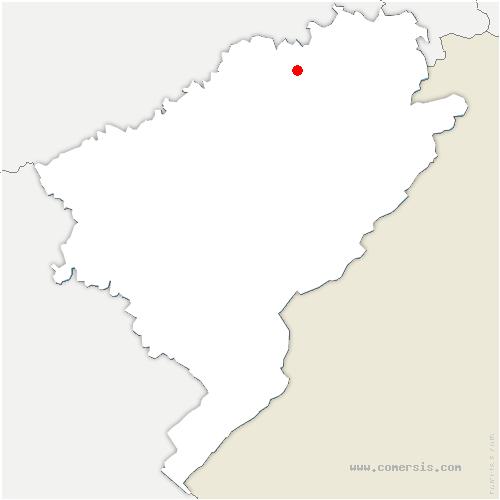 carte de localisation de Rang