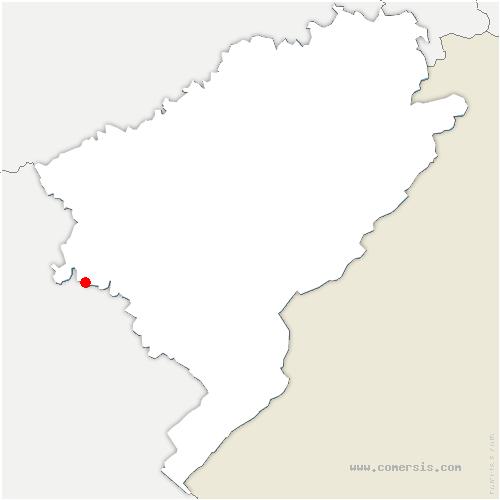 carte de localisation de Rennes-sur-Loue