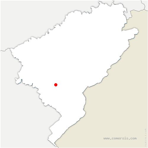 carte de localisation de Reugney