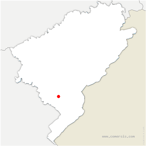 carte de localisation de Rivière-Drugeon