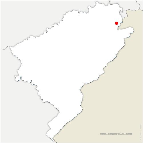 carte de localisation de Roches-lès-Blamont