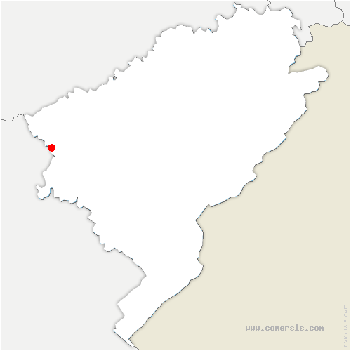 carte de localisation de Roset-Fluans