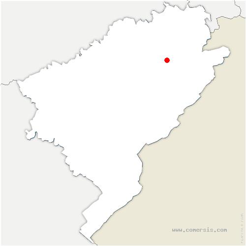 carte de localisation de Rosières-sur-Barbèche