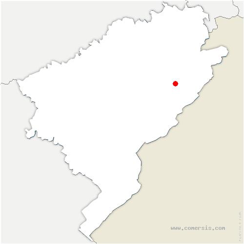 carte de localisation de Rosureux