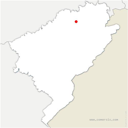 carte de localisation de Saint-Georges-Armont