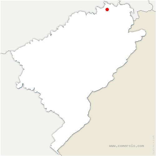 carte de localisation de Saint-Julien-lès-Montbéliard