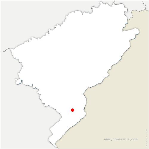 carte de localisation de Saint-Point-Lac