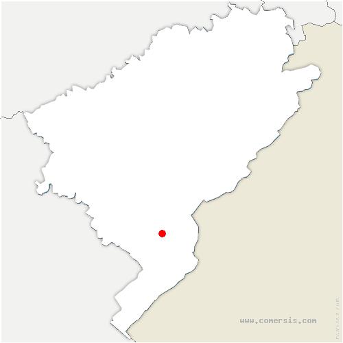 carte de localisation de Sainte-Colombe