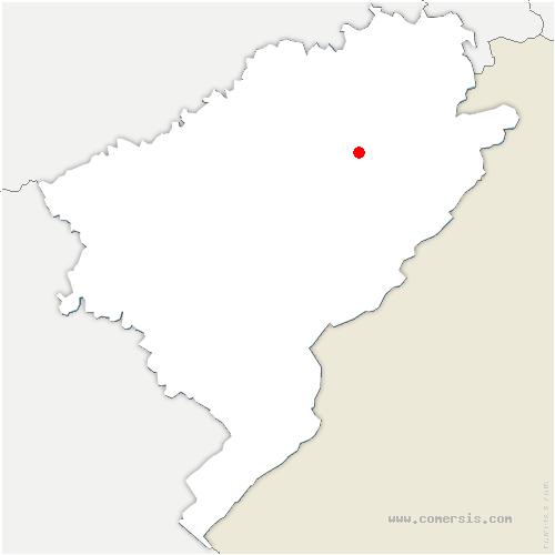 carte de localisation de Sancey