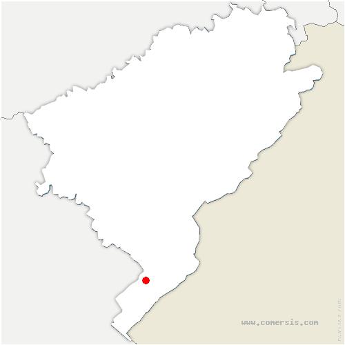 carte de localisation de Sarrageois