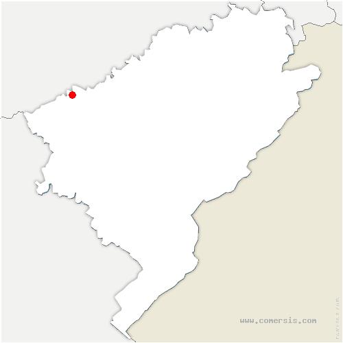 carte de localisation de Sauvagney
