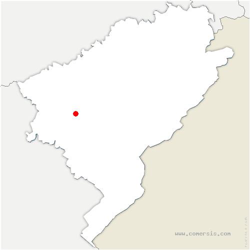 carte de localisation de Scey-Maisières