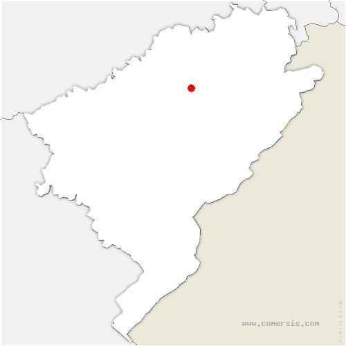 carte de localisation de Servin