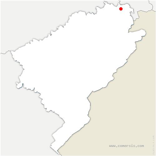 carte de localisation de Sochaux