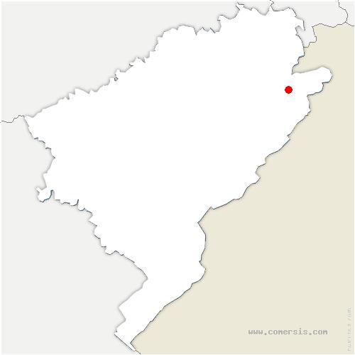 carte de localisation de Soulce-Cernay