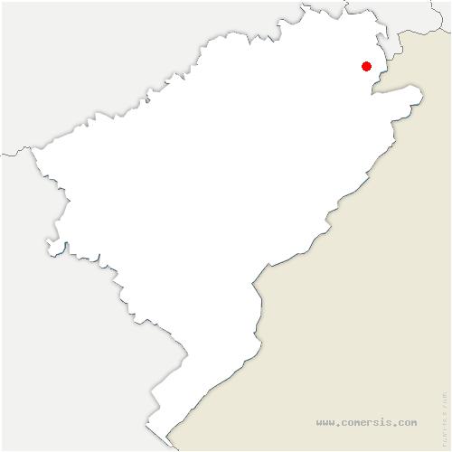 carte de localisation de Thulay